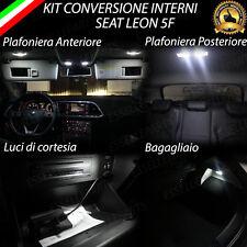 KIT LED INTERNI SEAT LEON 5F KIT COMPLETO + VANO PIEDI 6000K NO ERRORE CANBUS