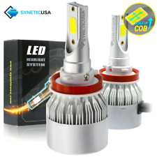 Syneticusa H11/H9/H8 CREE 100W LED Headlight Conversion Kit High Low Beam 6000K