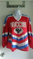 POCCNR-Russian Mesh Hockey Jersey Men's L/XL