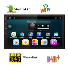 Android7.1 GPS Navigation Radio BT Car Stereo Single 1Din 1080P Universal DAB 4G