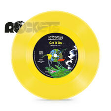 "ROCKETS - GET IT ON - 45 GIRI 7"" ITALY VINILE GIALLO / YELLOW VINYL NUMBERED"