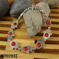 HOT Free shipping New Tibet silver multicolor jade turquoise bead bracelet S59B