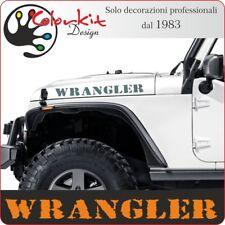 2 adesivi Wrangler Mod.05 - cm.70x7 per cofano Jeep Renegade By Colorkit 001373