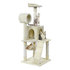 "51"" Cat Tree Tower Condo Furniture Scratching Post Pet Kitty Play House Hammock"