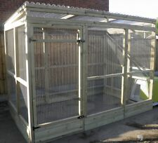 6' x 9' x 6' Walk in run with kickboard, Bird aviary, Cat run, Chicken run]2