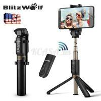BlitzWolf bluetooth Selfie Stick Extendable Monopod w/ Remote Shutter Tripod