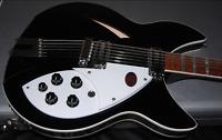MINT Rickenbacker 360/12c63 Series Jet Glo Electric Guitar Original Case RARE!