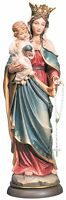 Statua Madonna del Rosario- Legno- Woodcarving Our Lady of Rosary Statue