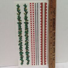 "Christmas 12"" Borders Holly SCRAPBOOKING Stickers by Me & My Big Ideas"