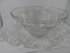 Vintage glass fruit punch bowl .