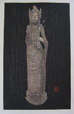 Kaoru Kawano - Japanese Woodblock print - Kwannon Bodhisattva of Compassion