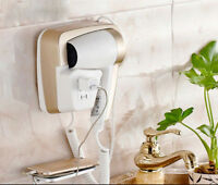 Simple Gold Hair Dryer Hotel Home Bathroom Wall Mounted Drier Quick Hair Dryer