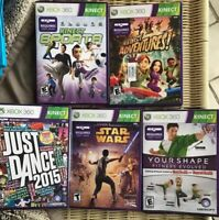 Lot 5 Xbox 360 Kinect Video Games Dance Fitness Sports Adventures