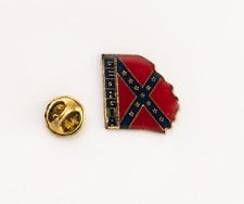 GEORGIA AMERICAN STATE FLAG  SOUTHERN CROSS STATE RARE QUALITY ENAMEL BADGE