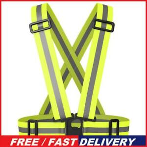 Night Running Reflective Straps Vest Traffic Night Work Security Clothing