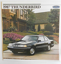 1987 Original Ford Thunderbird LX Sales Brochure  Turbo Coupe