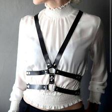 Women Bdsm PU Leather Harness Bondage Belts Garter Waist Straps Suspenders Goth