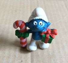 CHRISTMAS CANDY CANE& GIFT SMURF PVC FIGURE- 2.0207, MAIA BORGES , PORTUGAL