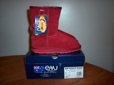 """Emu Australia Women's """"Bronte"""" Low Boots Ruby Red Size 7 or 8.....Brand New"""