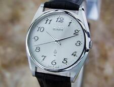 Seiko 1980s Mens Rare Stainless Steel Made in Japan Quartz Dress Watch W19