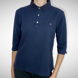 Tommy Hilfiger Women's 1/2 Sleeve Navy Polo Shirt w/Logo