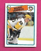 RARE 1988-89 TOPPS PENGUINS MARIO LEMIEUX TOP BOX CARD (INV# D2436)