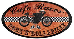 CAFE RACER ROCK POUR TRIUMPH RATS BIKER 12cmX6cm AUTOCOLLANT STICKER MOTO CA170