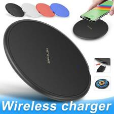 Qi Fast Wireless Charger Samsung Galaxy S7 S8 S9 S10 Plus Note Edge iPhone X 8 7