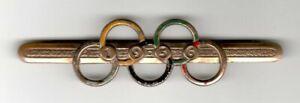 Brosche zur Olympiade in Berlin 1936 m. Olympischen Ringen / Besucher-Abzeichen?