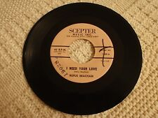 NORTHERN SOUL RUFUS BEACHAM  I NEED YOUR LOVE/WHEN YOU CALL MY NAME SCEPTER 1209