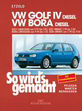 VW GOLF 4 DIESEL 1997-2003 BORA VARIANT REPARATURANLEITUNG SO WIRDS GEMACHT 112