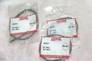 Three Bell & Howell projector belts WP-24,WP-27 AND LAMPS