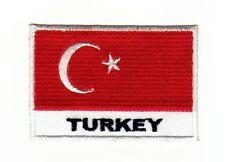 ag78 Flagge Turkey Aufnäher Bügelbild Applikation Patch Türkei Kutte DIY Flicken