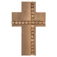 Cross With Beads Wood Wall Decor