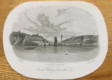 c1840 - View Of Whitby From The Sea. G. Weatherill.