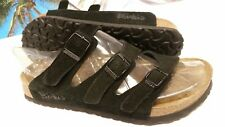 Birki's Birkenstock Womens Sz L7/ M5 Black Suede Made in GERMANY Slip On EUC