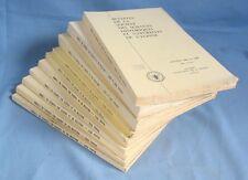 10 Bulletins Société des SCIENCES HISTORIQUES et NATUR. de l'YONNE / 1967 à 1979