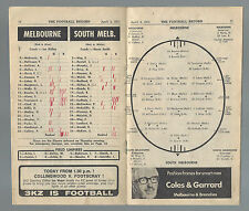 1971 VFL Football Record Melbourne v South Melbourne April 3 Demons Swans