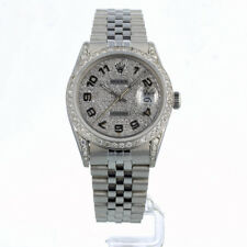 ROLEX DATEJUST 36MM 16014 DIAMOND DIAL BEZEL & LUGS 12 MONTH GUARANTEE 1984