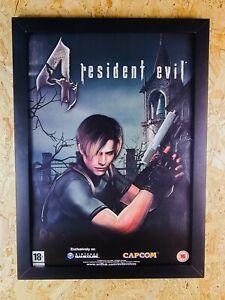 Resident Evil 4 Slight Damage Shop Promo Poster A2 Size 100% Original Gamecube