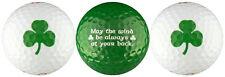 Irish Shamrock Golf Ball Gift Set