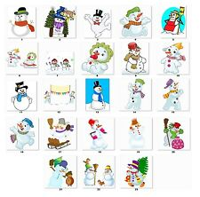 30 Personalized Return Address Christmas Snowman Labels (cs1) Buy 3 Get 1 free