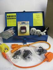 PAT Testing Adapters & Accessories Set, in a Metal Toolbox