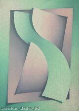 Scott Nellis Embrace Signed Serigraph Art Abstract Shapes Geometric MAKE OFFER!