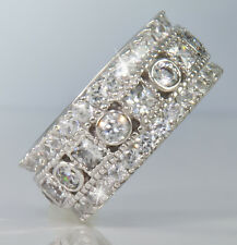 4 ct Royal Majestic Eternity Band Top CZ  Sterling Silver    11