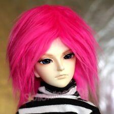 """YOSD 1/6 doll 6~7"""" Fur Wig tiny BJD Hair fuchsia AOD DK DZ DOD AF Luts Volks 5SD"""
