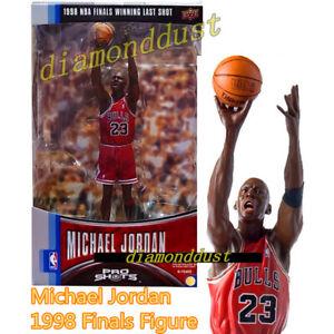 NBA 1998 Finals Winning Last Shot Michael Jordan Pro MJ Figure Basketball Cards