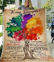 Tree To My Daughter I Want You To Believe Deep In Your Heart Sherpa Blanket