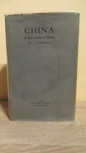 """1935 """"CHINA - A SHORT CULTURAL HISTORY"""" by FITZGERALD -1ST UK ED IN D/W"""