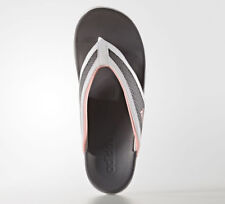 finest selection bbd6e 764ef NEW Womens White Gray Pink Adidas Adilette CF Flip Flops Thongs Sandals Size  9